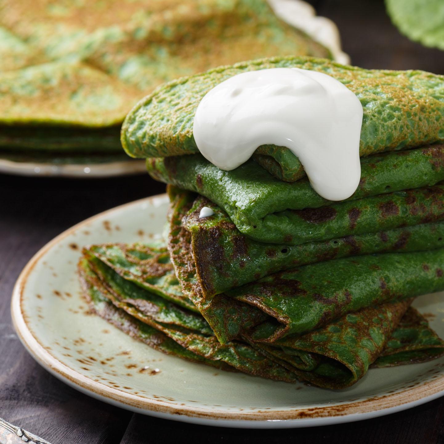 Receitas frescas e divertidas para as férias - Panquecas de espinafres